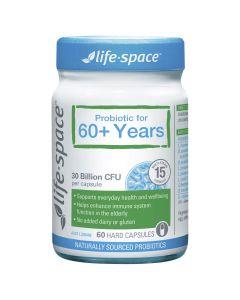 LIFE SPACE 60+ PROBIOTIC 60 CAPSULES