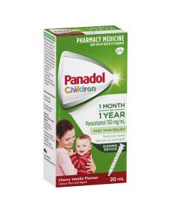 PANADOL BABY 1M-1YR CHERRY 20ML