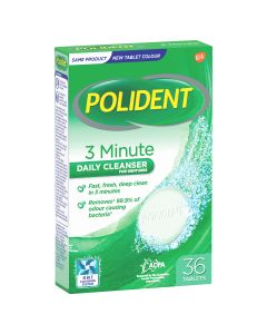 Polident 3 Minute Daily Cleanser for Dentures 36 Tablets