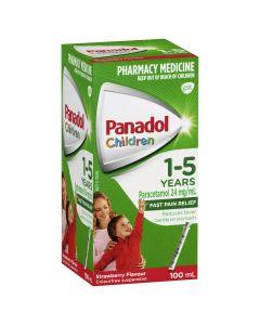 PANADOL CHILD 1-5 YRS STRAWBERRY 100ML