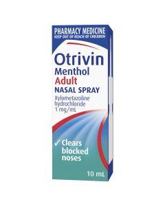 Otrivin Menthol Nasal Spray, for Blocked Nose, 10mL