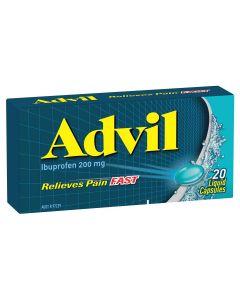 ADVIL LIQUID CAPS 20