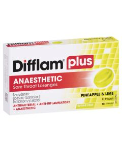 Difflam Plus Sore Throat Lozenge Plus Anaesthetic - Pineapple & Lime