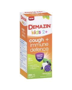 Demazin Kids 2+ Cough + Immune Defence Syrup Natural Berry Flavour 200mL