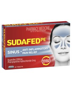 SUDAFED PE SINUS + ANTI-INFLAMMATORY PAIN RELIEF (DOUBLE ACTION) 24