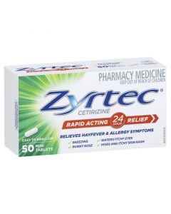 ZYRTEC 10MG TABLETS 50
