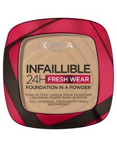 L'Oréal Paris Infallible 24 Hour Foundation in a Powder 140 Golden Beige