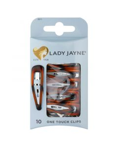 Lady Jayne One Touch Clips, Shell, Pack 10