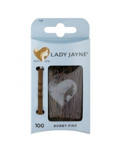 Lady Jayne Brown Bobby Pins - 100 Pk