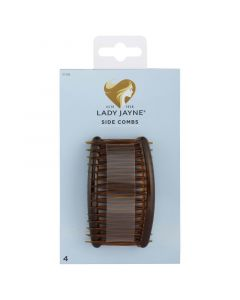 Lady Jayne Side Comb, Shell, Pack 4