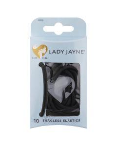 Lady Jayne Snagless Thick Elastics, Black, Pack 10