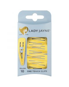 Lady Jayne One Touch Clips Pack 10 Yellow