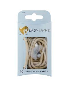 Lady Jayne Snagless Elastics, Blonde, Pack 10