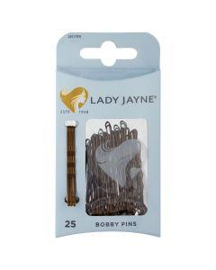 Lady Jayne Bobby Pins, Brown, 4.5 Cm, Pack 25