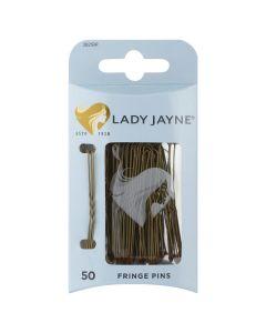 Lady Jayne Fringe Pins, Brown, 5 Cm, Pack 50