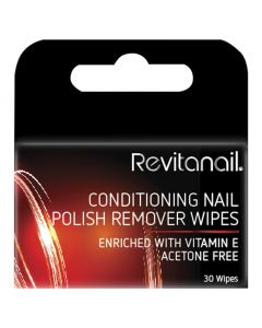 Revitanail Conditioning Nail Polish Remover Wipes 30pk