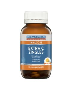 Ethical Nutrients Extra C Zingles (Orange) 50 Tablets