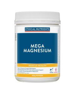 Ethical Nutrients Mega Magnesium Powder Raspberry 450G