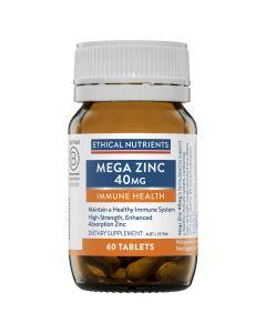 Mega Zinc 40mg 60 Tablets