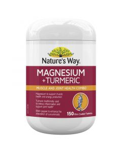 Nature's Way Magnesium + Turmeric 150S