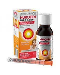 NUROFEN CHILD 3M-5YR STRAWBERRY 100ML