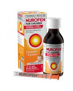NUROFEN CHILD 3M-5YR STRAWBERRY 200ML