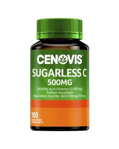 CENOVIS SUGARLESS C 500MG ORANGE FLAVOUR TABLETS 100
