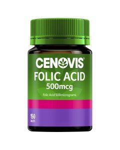 Cenovis Folic Acid 500Mcg Tablets 150 Gst Free