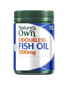 Nature's Own Odourless Fish Oil 1500Mg Capsules 200