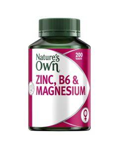 Nature's Own Zinc, B6 & Magnesium Tablets 200