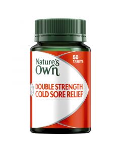 Nature's Own Double Strength Cold Sore Relief Tablets 50