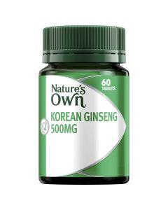 Nature's Own Ginseng Korean 500Mg Tab 60
