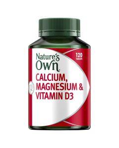 Nature's Own Calcium, Magnesium & Vitamin D3 Tablets 120