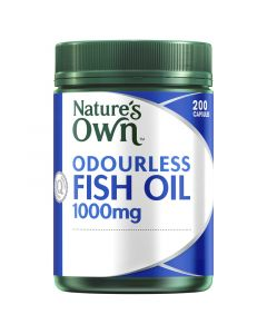 Nature's Own Odourless Fish Oil 1000Mg Capsules 200