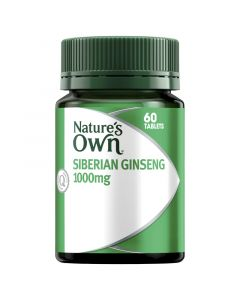 Nature's Own Ginseng Siberian 1000Mg Tablets 60