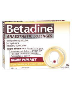Betadine Anaesthetic Honey & Lemon 16 Pack