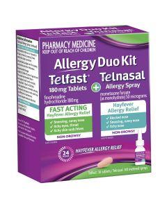 Allergy Duo Kit Telfast 180mg 30 Tablets + Telnasal Allergy Spray 140 Metered Sprays