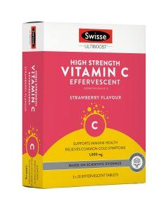Swisse Ultiboost High Strength Vitamin C Effervescent 60 Tablets