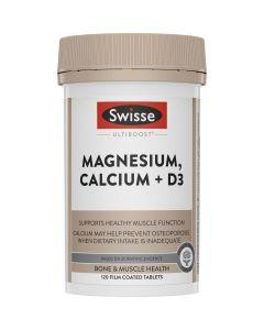 Swisse Ultiboost Magnesium, Calcium + Vit D 120 Tablets