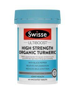 Swisse Ultiboost High Strength Organic Turmeric 60 Tablets