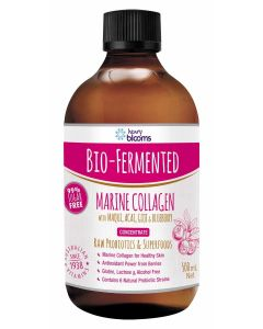 Henry Blooms Bio-Fermented Marine Collagen With Maqui, Acai, Goji And Blueberry 500mL