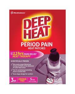 Deep Heat Period Pain Heat Patch 3 Pack