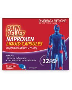 Naproxen Pain Relief Liquid Caps 30 Pack