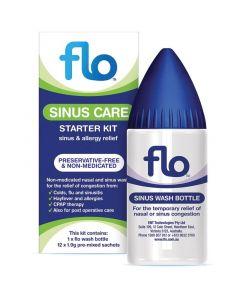 FLO SINUS CARE STARTER KIT (BOTTLE & 12 SACHETS)