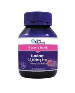 Henry Blooms Cranberry 35,000Mg Plus Vitamin C & Silica 30 Capsules