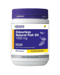 Henry Blooms Omega 3 Odourless Natural Fish Oil 1000Mg 400 Capsules