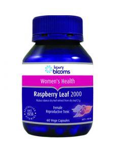 Henry Blooms Raspberry Leaf 2000Mg 60 Vegetarian Capsules
